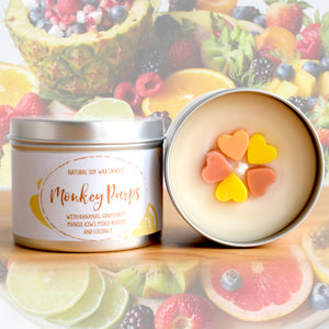 Monkey Parps Natural Soy Wax Candle - Standard Size (8oz)