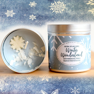 Winter Wonderland Natural Soy Wax Candle - Large Size (12oz)