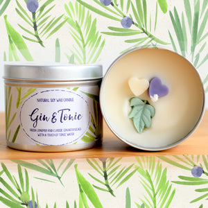 Gin and Tonic Natural Soy Wax Candle - Standard Size (8oz)