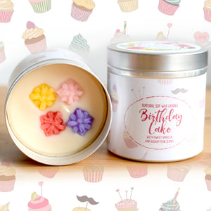 Birthday Cake Natural Soy Wax Candle - Large Size (12oz)