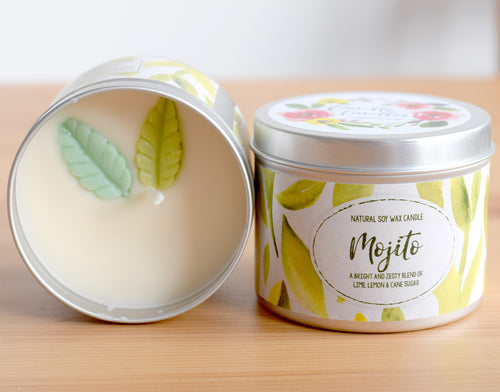 Mojito Natural Soy Wax Candle - Standard Size (8oz)