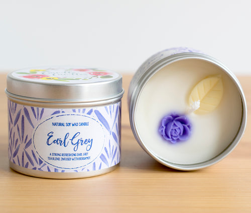 Earl Grey Natural Soy Wax Candle - Mini Candle (4oz)