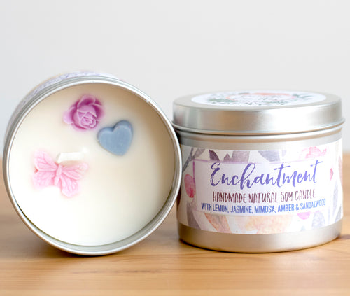 SALE - Enchantment Soy Wax Candle - Standard Size (8oz)