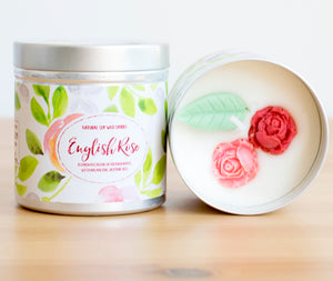 English Rose Natural Soy Wax Candle