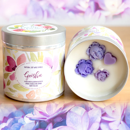 Geisha Natural Soy Wax Candle - Large Size (12oz)
