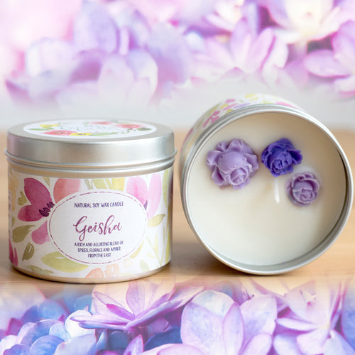 SALE - Geisha Natural Soy Wax Candle - Standard Size (8oz)