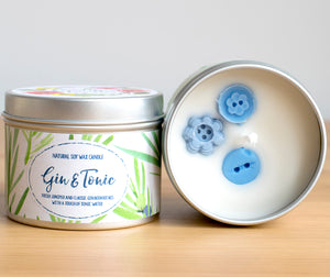 Gin and Tonic Natural Soy Wax Candle - Mini Size (4oz)
