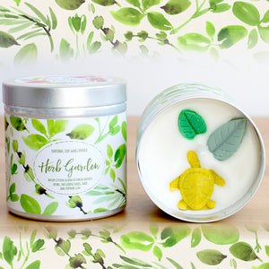Herb Garden Natural Soy Wax Candle - Large Size (12oz)