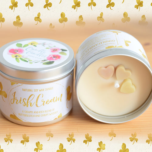 Irish Cream Natural Soy Wax Candle - Large Size (12oz)