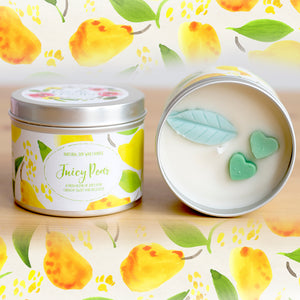 Juicy Pear Natural Soy Wax Candle