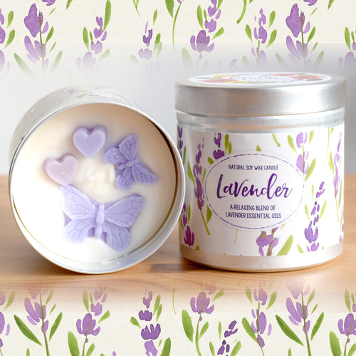 Lavender Natural Soy Wax Candle - Large Size (12oz)