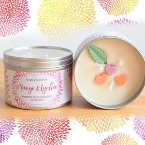 Mango and Lychee - Large Three Wick Candle (14oz)