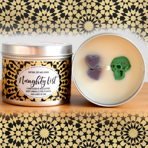 Naughty List Natural Soy Wax Candle - Standard Size (8oz)