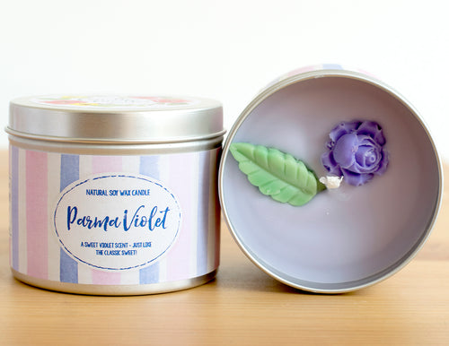 Parma Violet Natural Soy Wax Candle