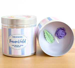 SALE - Parma Violet Natural Soy Wax Candle - Large Size (12oz)