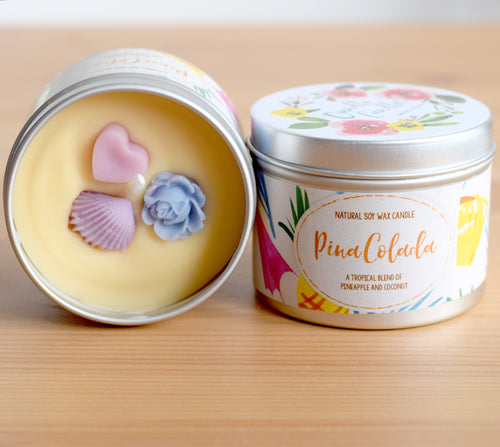 SALE - Pina Colada Natural Soy Wax Candle - Standard Size (8oz)