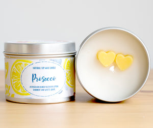 Prosecco Natural Soy Candle - Mini Size (4oz)