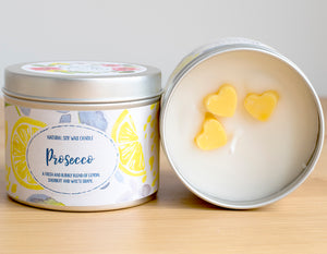 SALE - Prosecco Natural Soy Candle - Standard Size (8oz)