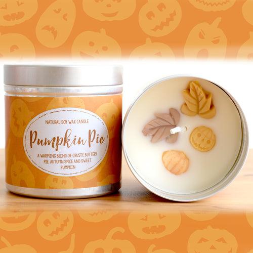 Pumpkin Pie Natural Soy Wax Candle - Large 12oz Size