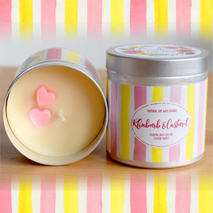 Rhubarb and Custard Natural Soy Wax Candle - Large Size (12oz)