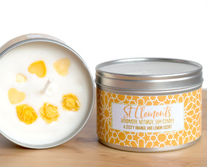 St Clements Natural Soy Wax Candle