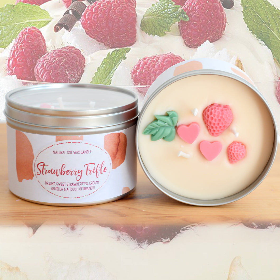 Strawberry Trifle - Large Three Wick Candle (14oz)