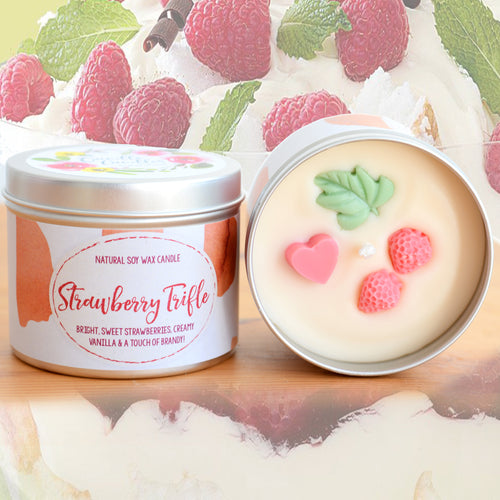 Strawberry Trifle Natural Soy Wax Candle - Standard Size (8oz)