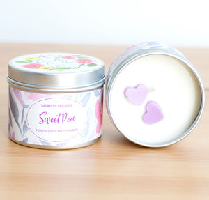 Sweet Pea Natural Soy Wax Candle - Mini Candle (4oz)