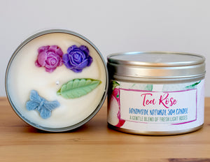 Tea Rose Natural Soy Wax Candle