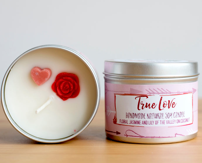 SALE -  True Love Soy Wax Candle - Standard Size (8oz)