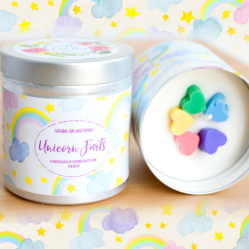 Unicorn Farts Natural Soy Wax Candle - Large Size (12oz )