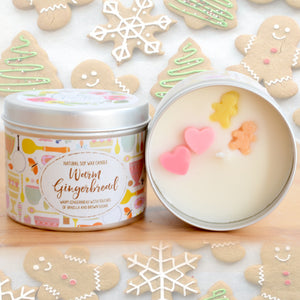 Warm Gingerbread Natural Soy Wax Candle