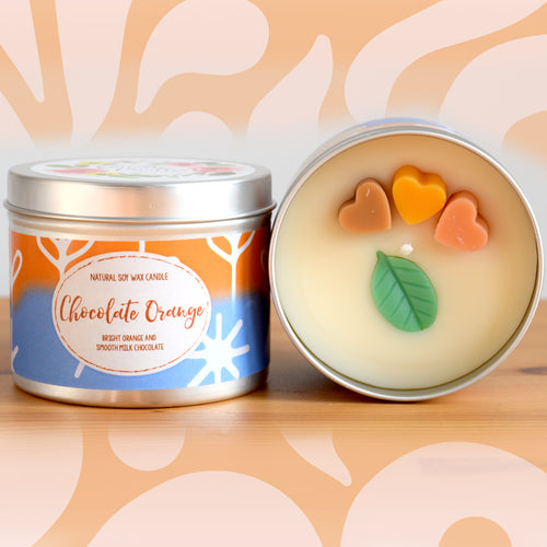 Chocolate Orange Natural Soy Wax Candle - Standard Size (8oz)