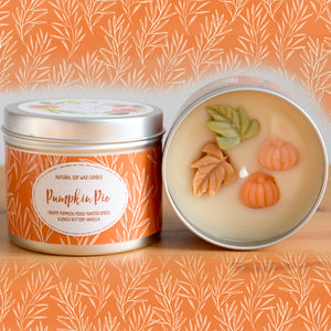 Pumpkin Pie Natural Soy Wax Candle - Standard Size (8oz)