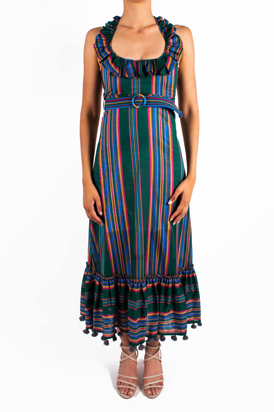 Allia Stripe Picnic Dress Front