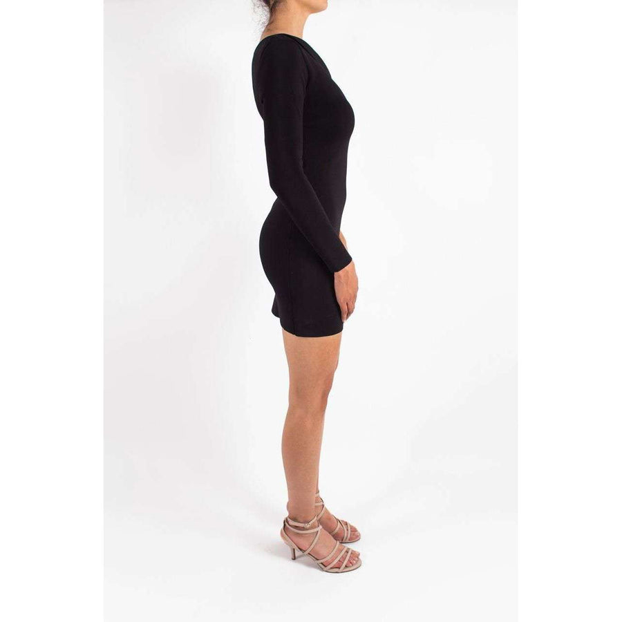 Axis Sleeve Knit Dress Black