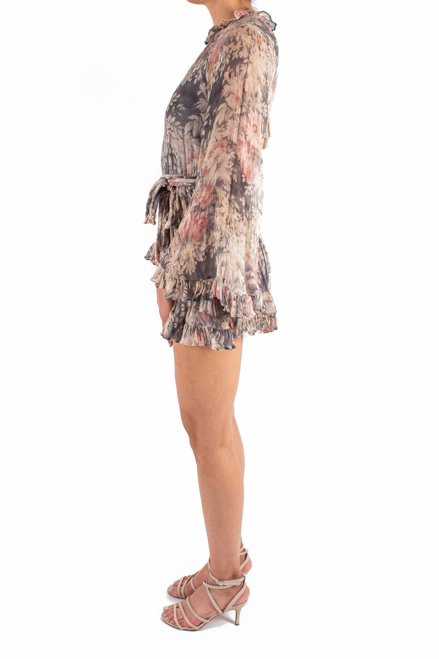 Cavalier Playsuit Smoke Floral Front