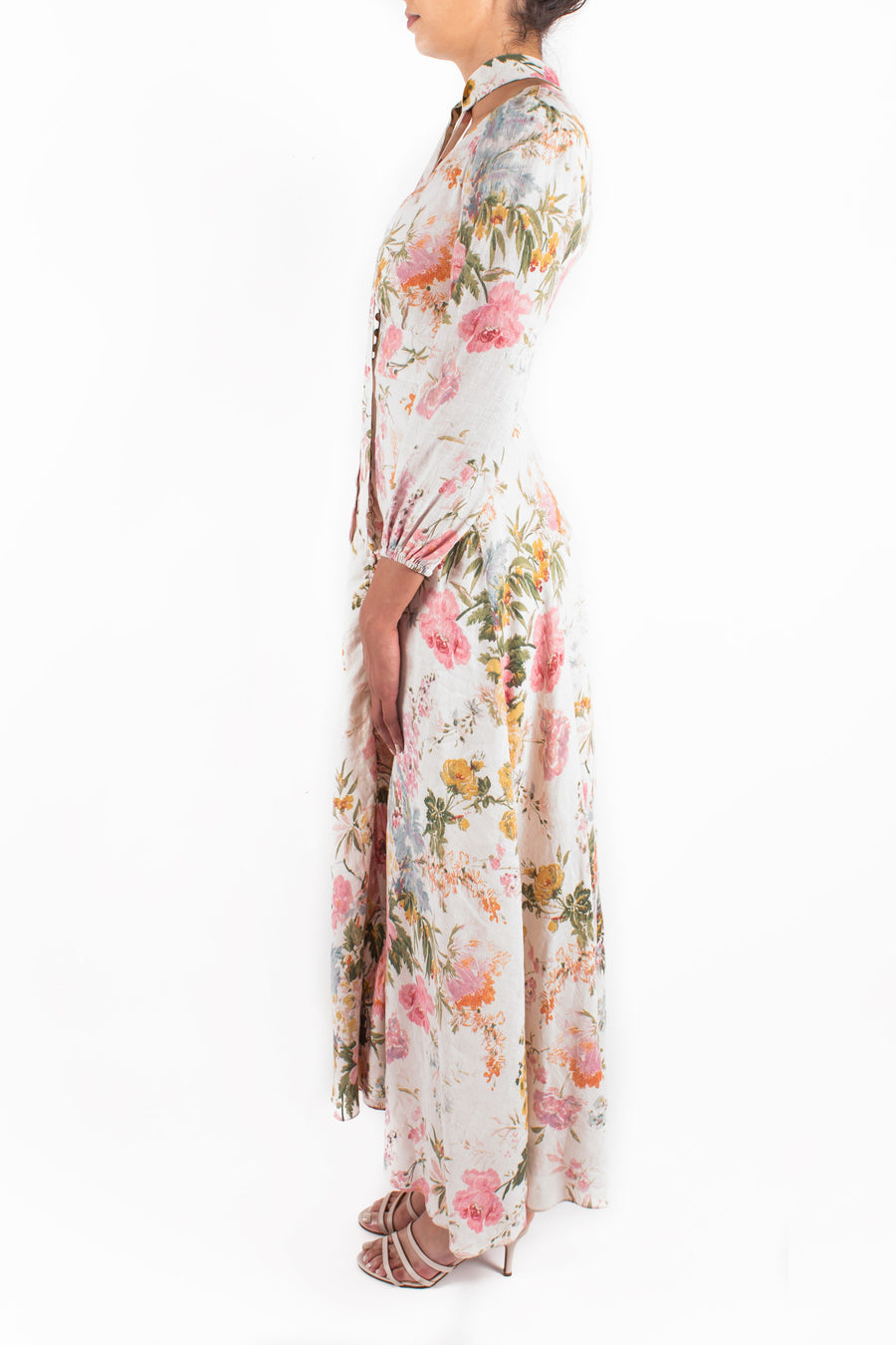 Heathers Plunge Long Dress Front