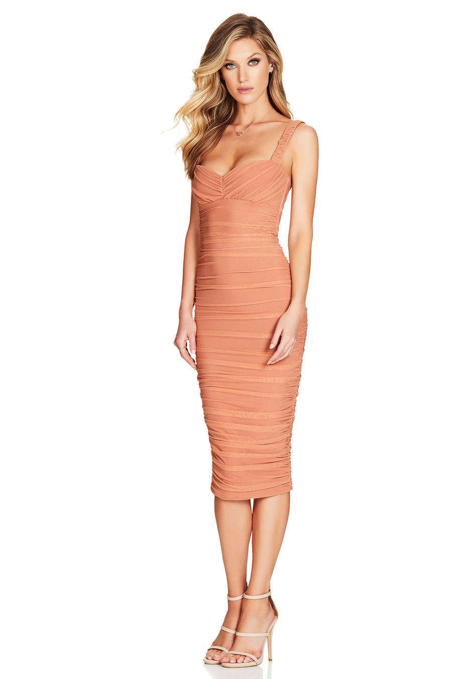 Poison Midi Tan Dress