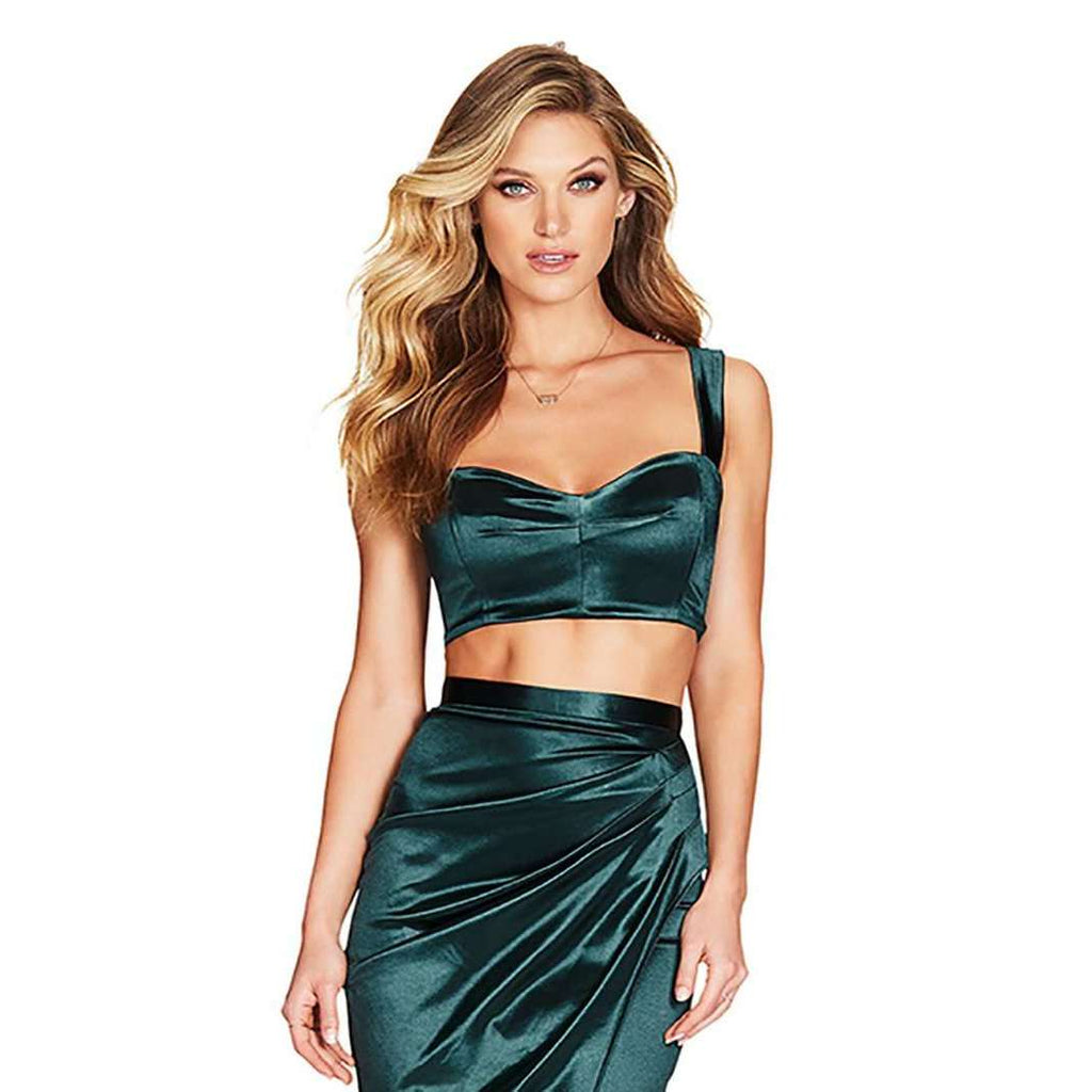 Slay Satin Set Emerlald