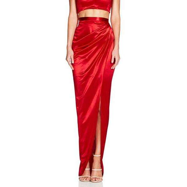 Slay Satin Set Red
