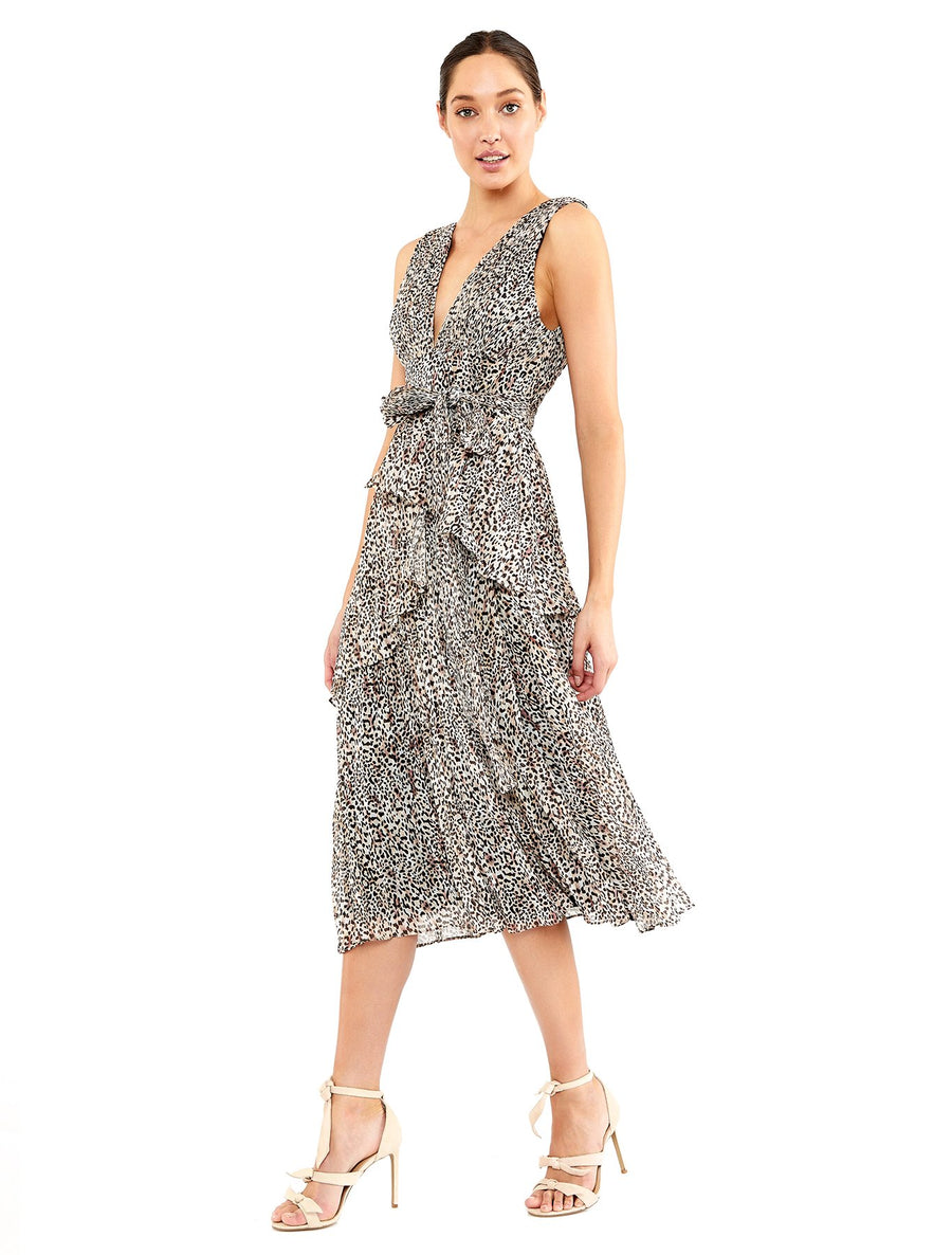 Sugar and Spice Midi Dress - Animal Print