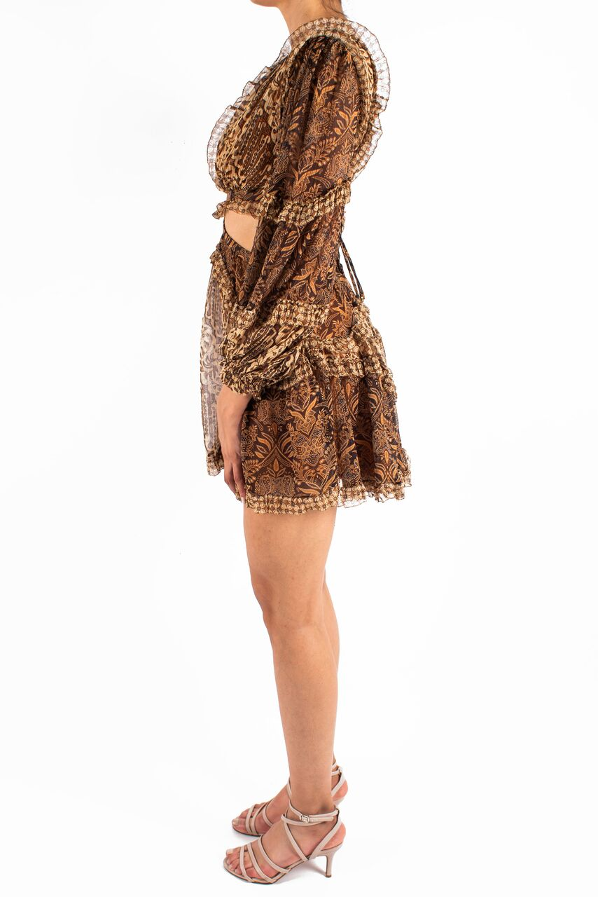 Tali Batik Cut Out Dress Front