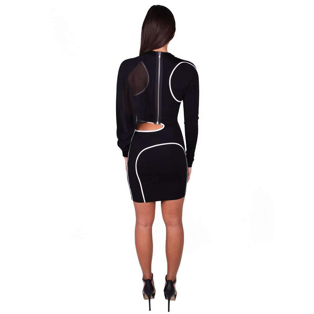 Cutout Satin Jersey Mini Dress