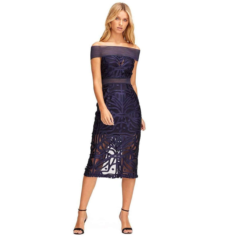 Lunar Eclipse Midi Dress Indigo