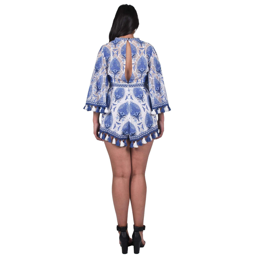 Young Hearts Run Free Playsuit Blue