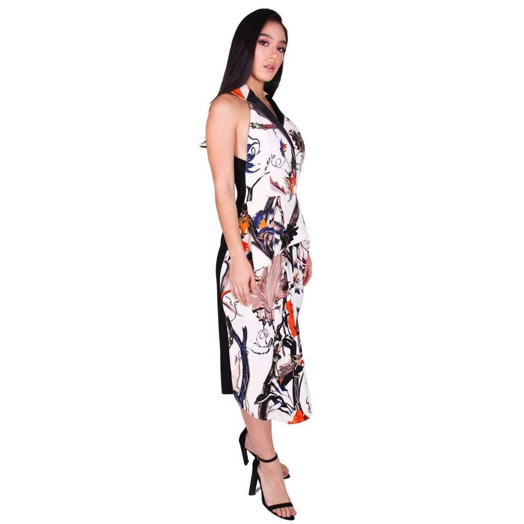 Printed Silk Canopy Dress