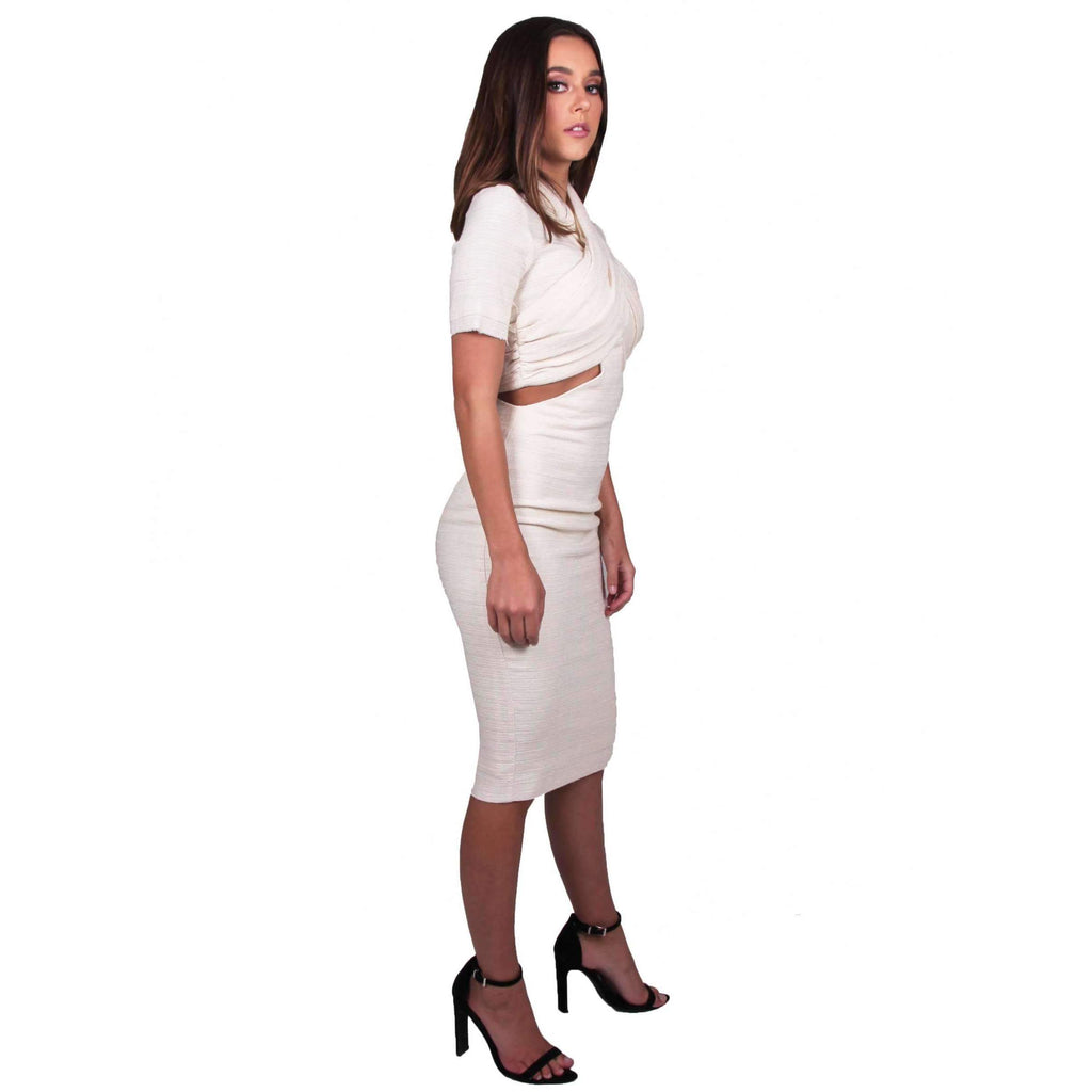 Entrained Wrap Short Sleeve Dress
