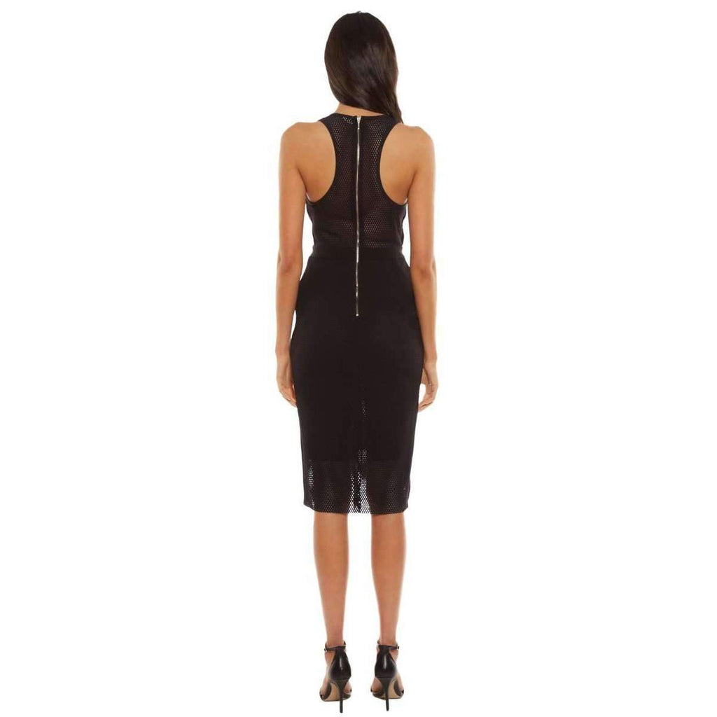 Noir Deep V Bodycon Dress