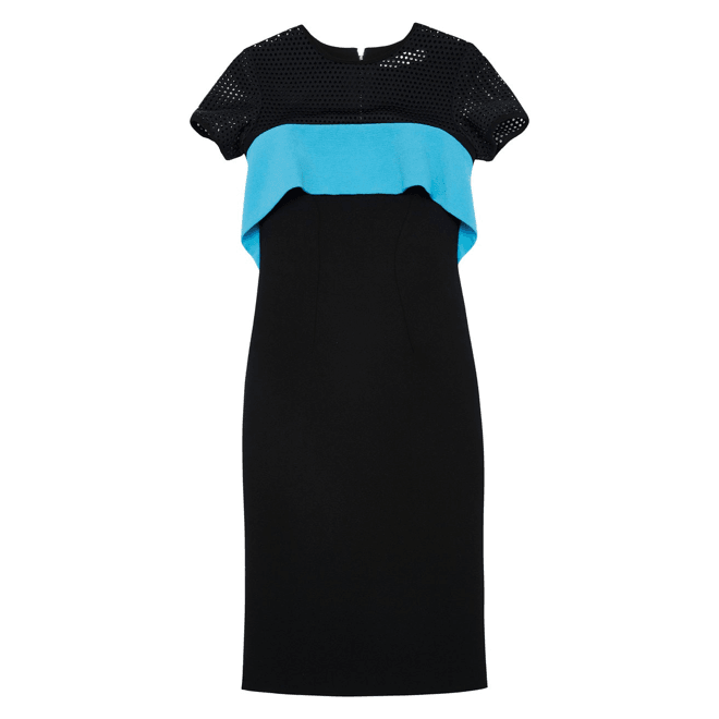 Black Dot Panel Dress
